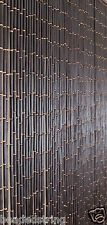Bamboo Beaded Curtain-Wood Beaded Curtain-Plain Black Door Beads