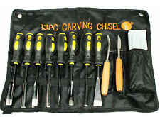 13 PC Wood Carving Set Hand Chisel Tool Kit Carvers Woodworking