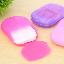 Hot Washing Slice Sheets Hand Bath Travel Scented Foaming 1 Box Paper Soap CN
