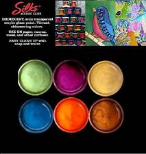 Silks Acrylic Glaze AUTUMN SPLENDOR 6-pk 10ml Paints ColourArte Mixed Media