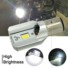 LED Motorcycle Headlight Headlamp High Low Light Lamp Bulb 9-80V BA20D H6 12W