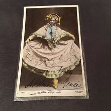 Adelina Genee ballet dancer sighed photo post card