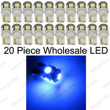 20-Piece Super Bright Ultra Blue T10 168 194 2825 5SMD Wholesale LED Bulbs