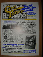 CARD TIMES MAGAZINE FORMERLY CIGARETTE CARD MONTHLY No 91 JULY / AUGUST 1997