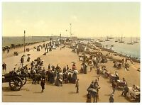 2 Victorian Views Southsea Promenade Beach Repro Old Vintage Photos Picture Set