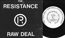 THE RESISTANCE raw deal 5 song ep 33rpm PUNK  PS cdn RARE oop L@@K