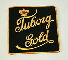 Vtg Tuborg Gold Brewing Beer Distributor Large Jacket Cloth Patch 1960s NOS New