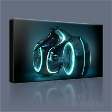 TRON LEGACY THE MOVIE LIGHT CYCLE ICONIC CANVAS ART PRINT PICTURE Art Williams