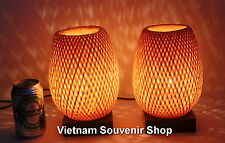 Set of 2 pcs bamboo lanterns for home decor - handmade night-lamp for bedside