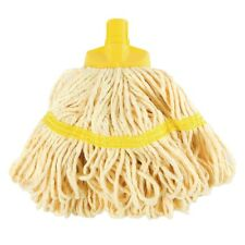 """SYR Mini Mop Head Yellow Cleaning Supplies Equipment Mopping Kitchen 14"""""""