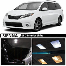 2015 Toyota Sienna White Interior LED Lights Package Kit + TOOL