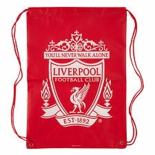 Liverpool FC  LFC Liverbird Crest Reusable Drawstring Bag Official