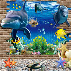 3D Animal Ocean Sea Fishes Wall Stickers Bathroom Kids Wall Decals Mural Decor