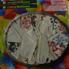 jungle animals birthday party baby shower balloons safari decorations white