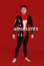 Man Sexy Tight Rubber Latex Catsuit Gummi Bodysuit for Cosplay Character