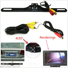 Cars License Plate IR Night Vision 4LED Reversing Camera Parking CMOS Camera Kit