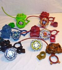 Beyblade Matching Sets Lot 6 Launchers Rip Cords Tops Fighters Spinners NICE EUC