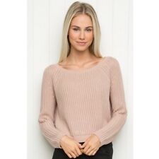 Sold Out! Brandy Melville Pink Cropped Cable Knit Gwen sweater NWT S/m