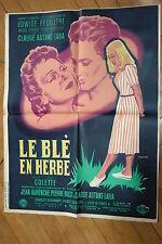 EDWIGE FEUILLERE LE BLE EN HERBE 1954 AFFICHE ORIGINALE