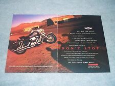 "1998 Kawasaki Vulcan 1500 Classic Vintage 2pg Ad ""One Day You See It"""