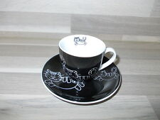 Porcelain espresso cup & saucer set cats Casa home collection - No Illy cups !