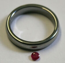 LOOSE RUBY NATURAL GEMSTONE 3MM ROUND CUT FACETED 0.25CT GEM RU46A