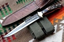 CFK USA Custom Handmade 1095 Sheep Horn Tactical Combat Bowie Large Knife Knives