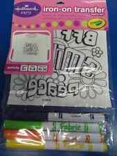 Hippie Girl Crayola BFF Smile Peace Birthday Party Favor Iron-On Transfer Kit