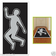 HALLOWEEN Party Decoration Photo Prop CHALK Body Outline SILHOUETTE Crime Scene