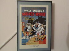 Walt Disney Mickey Mouse Vintage Movie Posters Framed Lot  of 10   8' x 5'