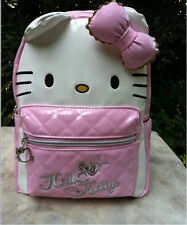 HelloKitty Pink   Backpacks School Book  Bag  2016  New Pu Bow
