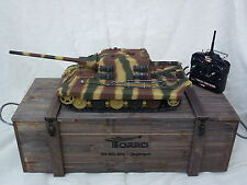Torro 1/16 RC German Jagdtiger BB Firing Tank Camo 2.4GHz with Wooden Box