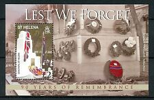 St Helena 2009 MNH WWI Remembrance 90th Anniv Cenotaph 1v M/S Military Stamps