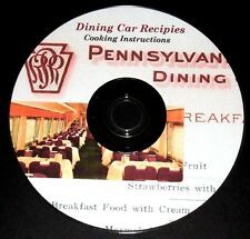 Pennsylvania  Railroad Dining Car Cookbook & Instructions,PDF pages on DVD