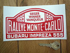 "SUBARU IMPREZA 555 Monte Carlo Rally Winner 1995 STICKER 7"" Classic Car Rallye"