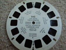 Single View-Master Real Life With The Cowboys #942 Cattle Roundup/Branding