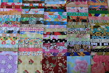 """100 Assorted Quilting Charms Fabric Precision Cut No Repeats 5"""" Squares"""