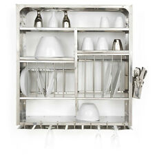 Dish Drying Rack Kitchen Cabinet Stainless Steel 76X76 CM