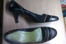 COLE HAAN WOMEN'S BLACK LEATHER PUMPS, Size 10