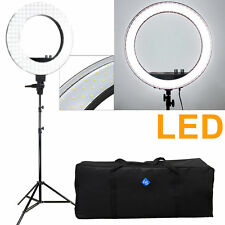 "18"" 5500K Ring LED 240pcs Photo Studio Video Flash Light Stand Carry Bag Set"