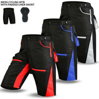 MTB Cycling Shorts Men Off Road Biking With Padded Liner Cycle Short - S-M-L-XL
