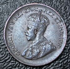 OLD CANADIAN COIN 1933 - ONE CENT - George V - Nice Details