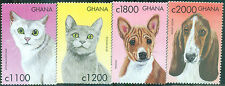 Zoo- Ghana 2000 #2199/02 Cats and Dogs Complete Set of 4 Mint