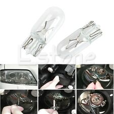 10Pcs Warm White T10 194 168 W5W 5W LED Signal Interior Car Light Halogen Bulbs