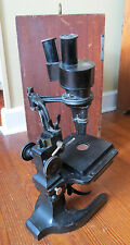 VINTAGE SPENCER STEREOSCOPIC MICROSCOPE WITH WOODEN CASE
