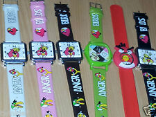 AngryBirds Quartz PU Leather Square Dial Waterproof Wrist Watches