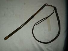 ANTIQUE HUNTING DOG/KENNEL WHIP LASH WITH SPRING CLIP AND HANDLE.