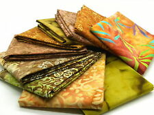 Quilt Fabric Mystery Pack 10 X Brown Batik  Fat Quarter bundle: 100% cotton