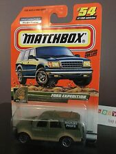 New 1999 Matchbox Die Cast Military Police Ford Expedition #54/100A