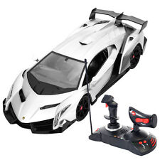 1/14 Lamborghini Veneno Electric Sport Radio Remote Control RC Car Gray Kids Toy